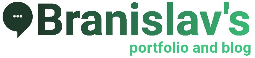 Branislav's portfolio and blog